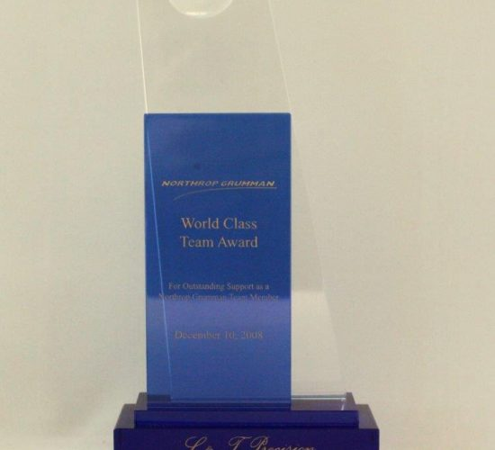 Northop Grumman's World Class Team Award